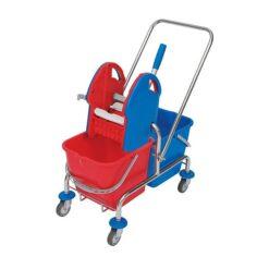 Mopwagen 2x20 chroom Splast WCH-0004