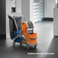 Mopwagen compleet splast toebehoren optioneel