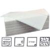 Papieren handdoekjes Z-vouw 2 laags 22x24cm cellulose 3200stuks