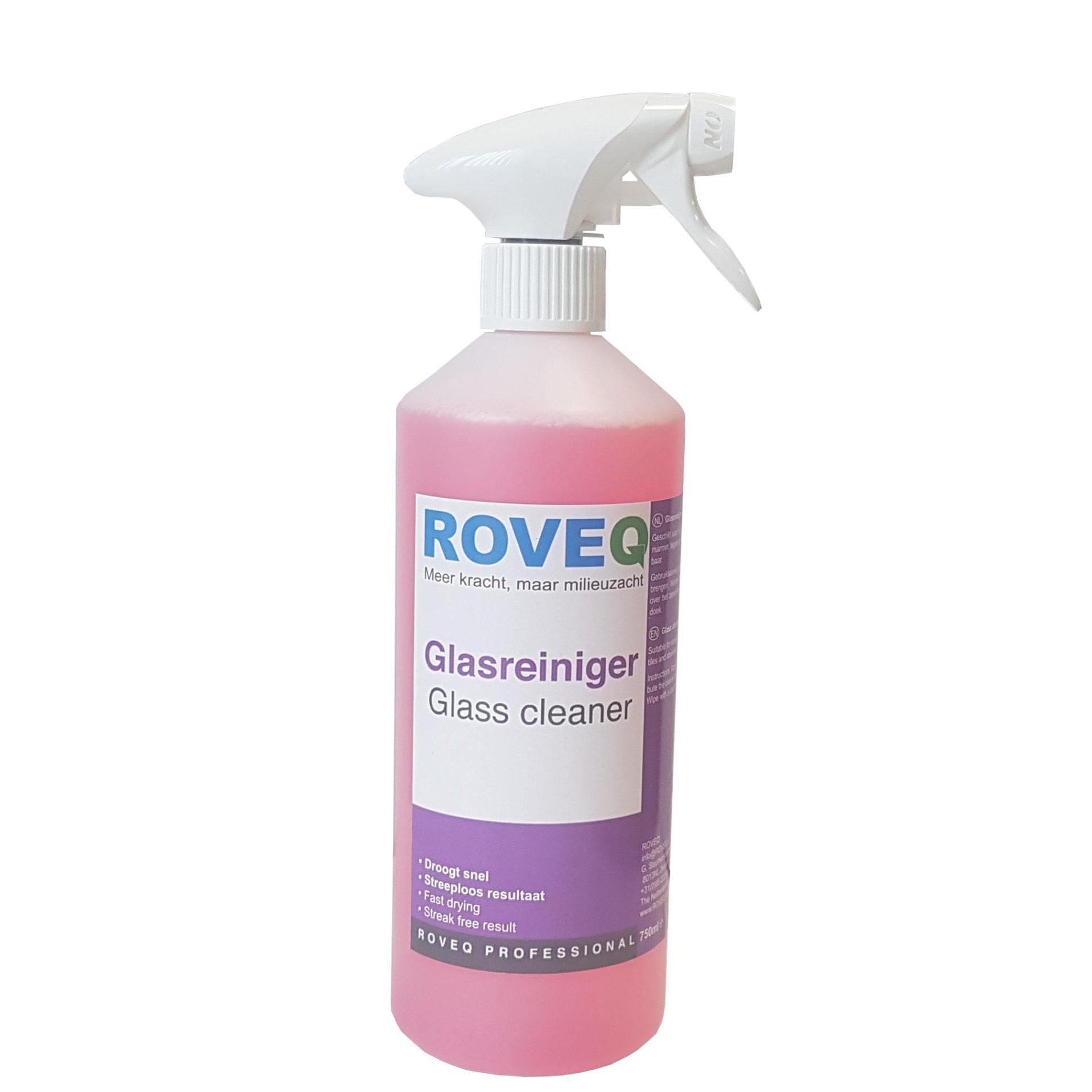 ROVEQ glasreiniger 750ml met standaard spray
