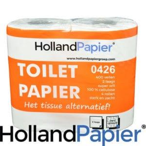 Toiletpapier 2lg 400vel 40rol cellulose