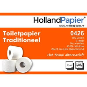 Toiletpapier 2lg 400vel 40rol cellulose ROVEQ