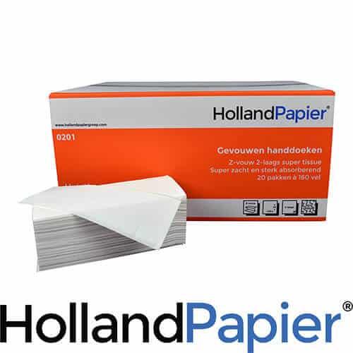 Papieren handdoekjes 2 laags cellulose
