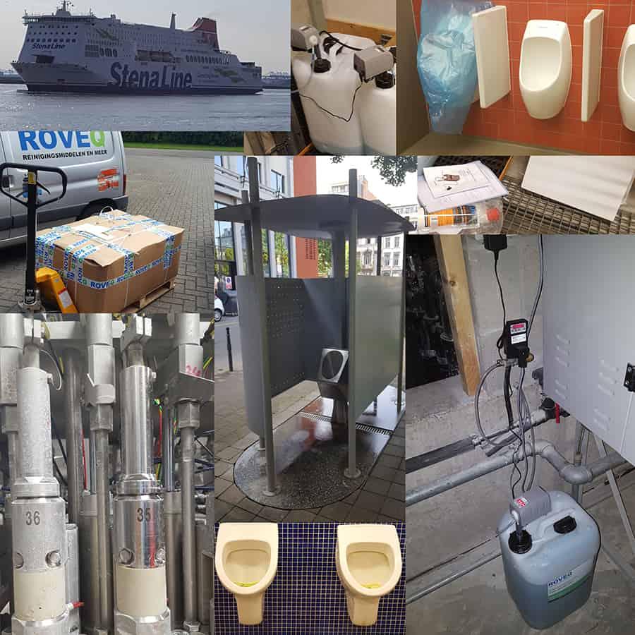diverse projecten verwijderen van urinesteen