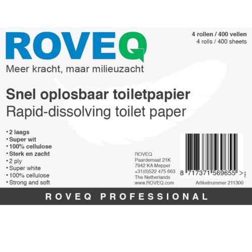 Snel oplosbaar toiletpapier ROVEQ