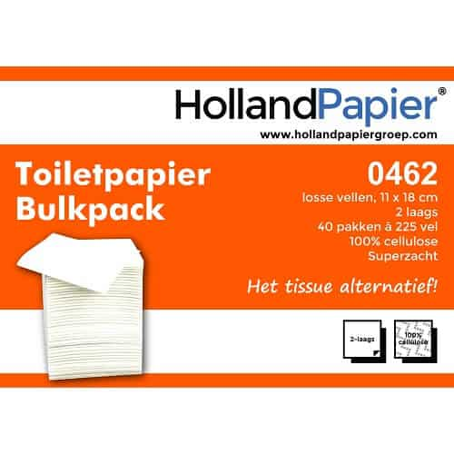 toiletpapier bulkpack 2laags cellulose 11x18cm roveq