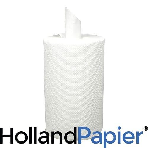 Mini poetsrollen 1 laag coreless cellulose