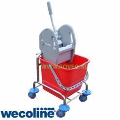 Mopwagen 2x15 chroom wecoline