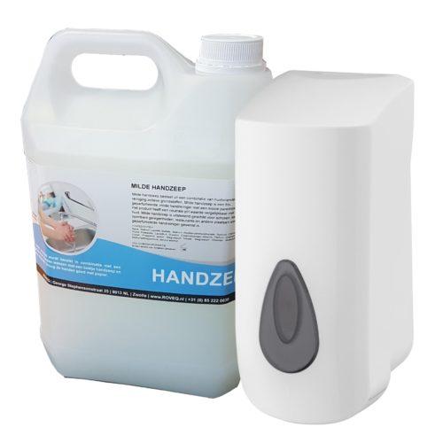 Navulbare zeepdispenser met 5 liter handzeep