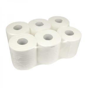 Pallet midi poetsrollen 1 laag centerfeed cellulose