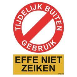 toilet tijdelijk niet gebruiken sticker