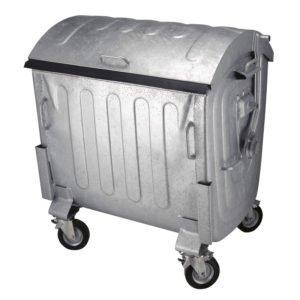 1100 liter rolcontainer Staalverzinkt