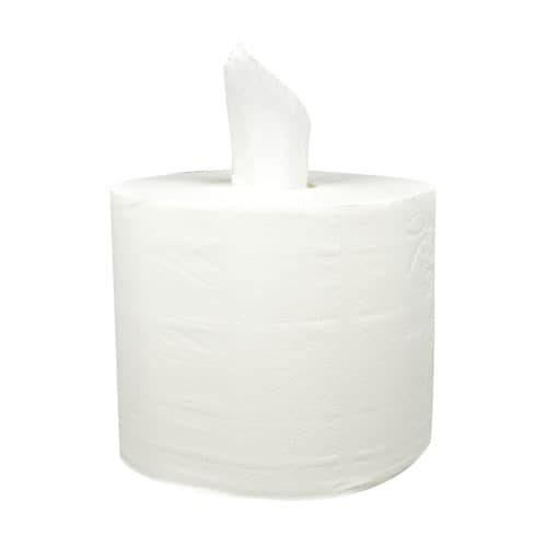 Industriepapier 2 laags 24 cm 340m cellulose wit coreless