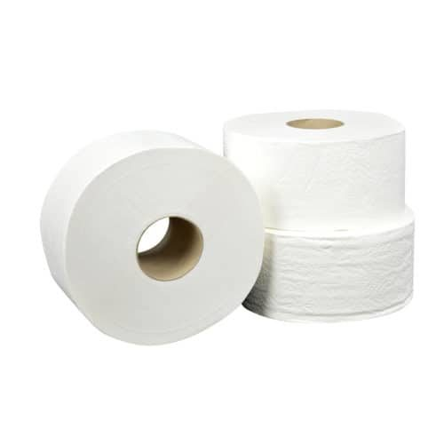 Toiletpapier Jumborol mini 2 laags 180m 12 rol cellulose