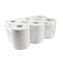 Handdoekrol midi 1 laags 300mtr 6rol recycled tissue