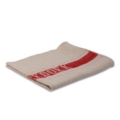 Werkdoek met rode band katoen 40x50cm