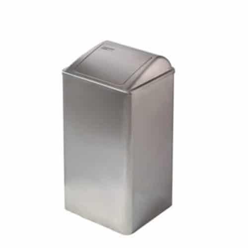 Afvalbak 65 liter Pushklep RVS Mediclinics