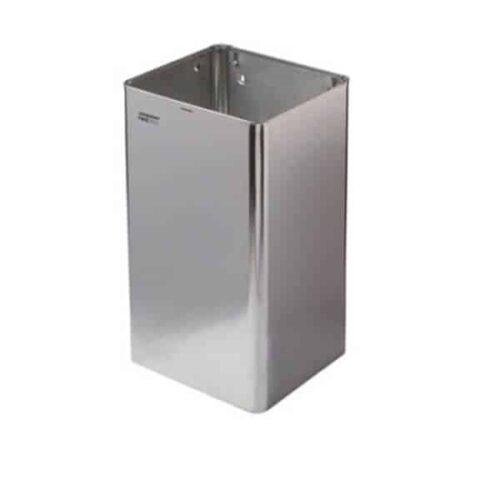 Afvalbak 65 liter open RVS hoogglans Mediclinics
