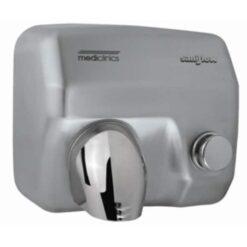 Handdroger RVS drukknop 245x276x214 Mediclinics