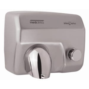 Handdroger rvs-look drukknop 248x278x212 Mediclinics