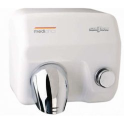 Handdroger wit drukknop 245x276x241 Mediclinics