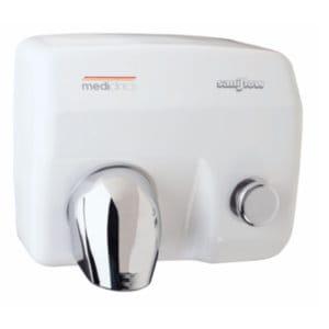 Handdroger wit drukknop 248x278x212 Mediclinics