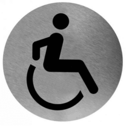 Pictogram invalide toilet RVS RVS - Mediclinics