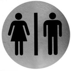 Pictogram man/vrouw RVS RVS - Mediclinics