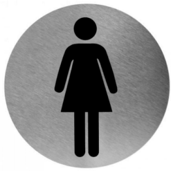 Pictogram vrouw RVS RVS - Mediclinics