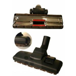 Combizuigmond natuurhaar 32mm met 2 loopwielen