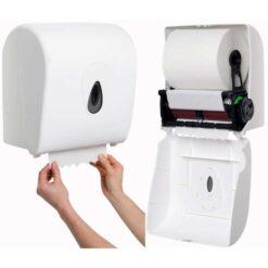 Handdoekroldispenser met autocut veersysteem gebruik roveq