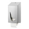 Coreless toiletpapier dispenser RVS anti-fingerprint coating Wings