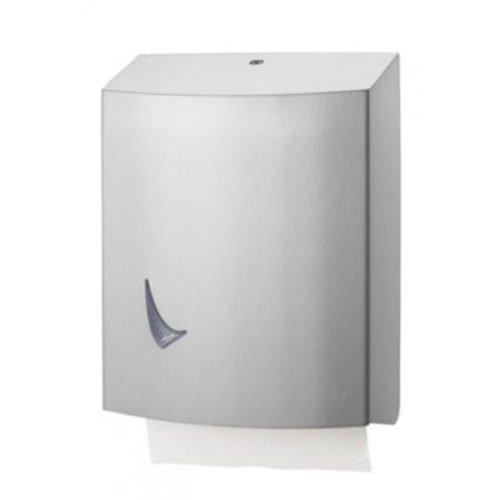 Handdoekpapier Z en C vouw dispenser RVS anti-fingerprint coating Wings