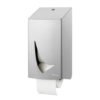 Traditioneel toiletpapierdispenser 2rollen RVS anti-fingerprint coating Wings