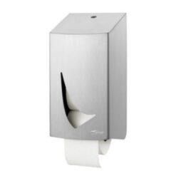Traditioneel toiletpapierdispenser 2rollen RVS anti-fingerprint coating Wings