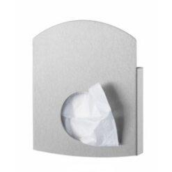 maandverbandzakjes dispenser (plastic & papier) RVS anti-fingerprint coating Wings