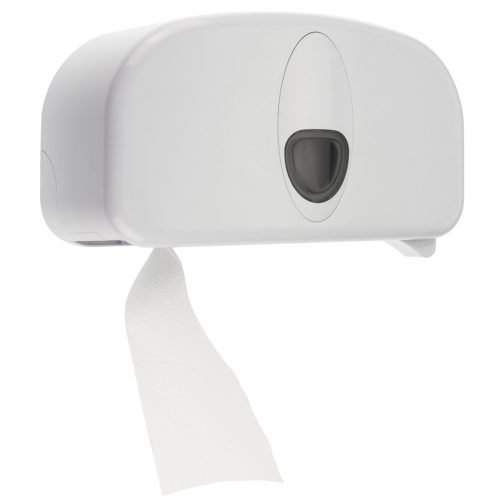Coreless toiletpapier dispenser kunststof wit PlastiQline