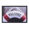Schoonloopmat Afbeelding 40x60cm lifebelt welcome