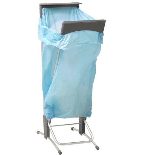 Afvalzakhouder enkel met voetbediening 120 liter hygiënische sluiting