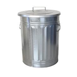 Verzinkte afvalbak 54 liter met losse deksel en handgrepen