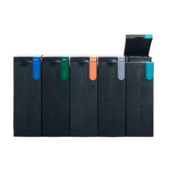 Afvalscheiding modulair afvalbak systeem BONTON bekermodule open