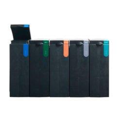 Afvalscheiding modulair afvalbak systeem BONTON papier open