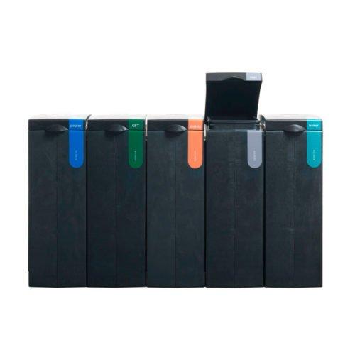 Afvalscheiding modulair afvalbak systeem BONTON rest open