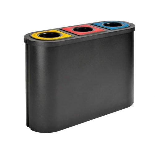 Afvalscheiding voor 3 afvalstromen TRIOMF zwart