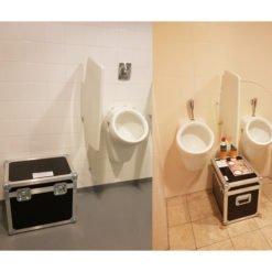 Verstopt urinoir Huur onze doseerkoffer tegen urinesteen