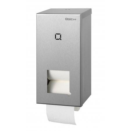 Toiletpapierdispenser kokerloos 2rol RVS - Qbic-line