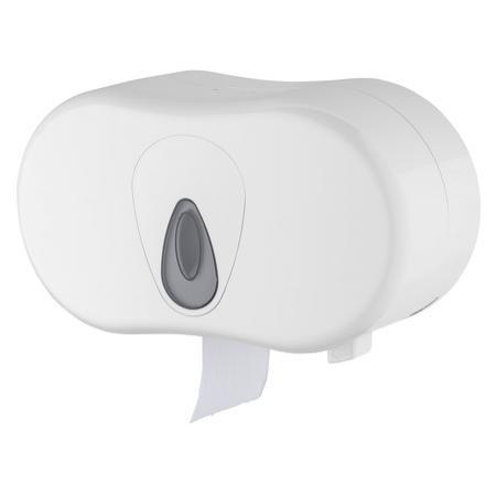 Toiletpapierdispenser kokerloos 2rol kunststof Wit - PlastiQline