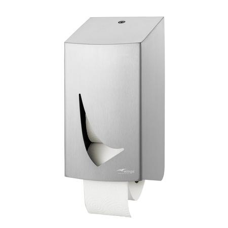 Toiletpapierdispenser 2rol RVS anti-fingerprint coating - Wings