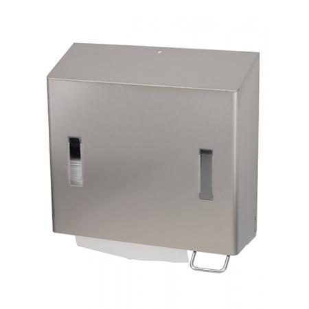 Combinatiedispenser zeep- & handdoekdispenser RVS anti-fingerprint coating - SanTRAL