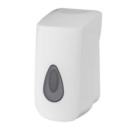 Foamzeepdispenser 400ml navulbaar kunststof Wit - PlastiQline